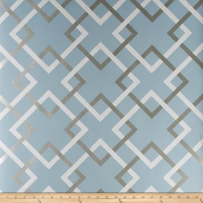 Fabricut 50174w Carrefours Wallpaper Catalina Blue 02 (Double Roll)
