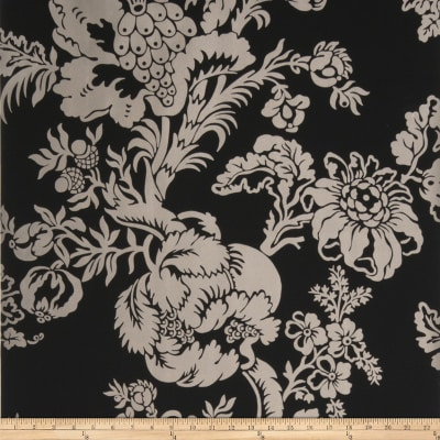 Fabricut 8830e Cathay Ii Wallpaper S0941 Charcoal (Triple Roll)