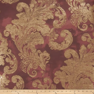 Fabricut Audrey Wallpaper Burgundy (Double Roll)
