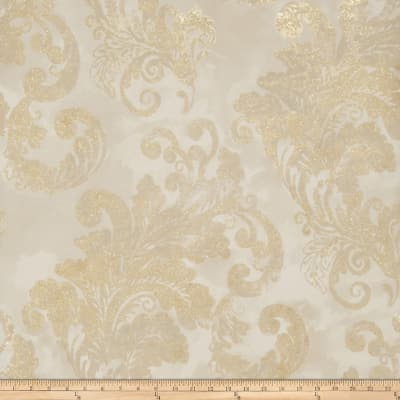 Fabricut Audrey Wallpaper Soft Gold (Double Roll)