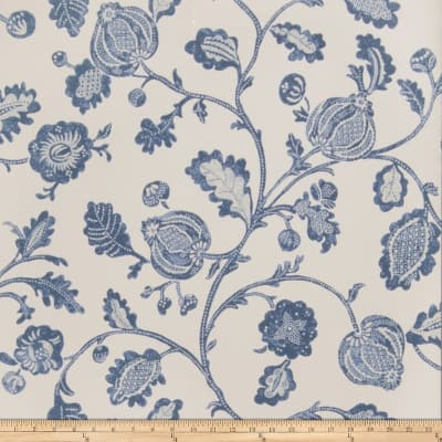 Fabricut Clemence Wallpaper Indigo (Double Roll)