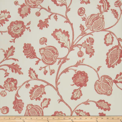 Fabricut Clemence Wallpaper Rouge (Double Roll)