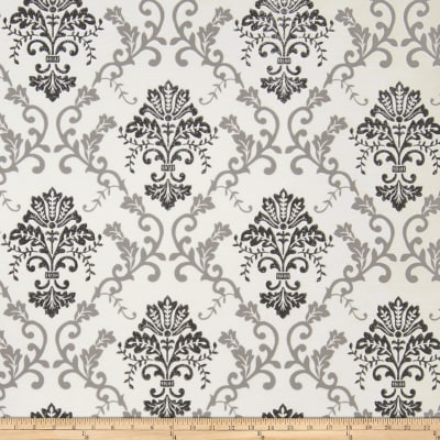 Fabricut Grace Wallpaper Cream Black (Double Roll)