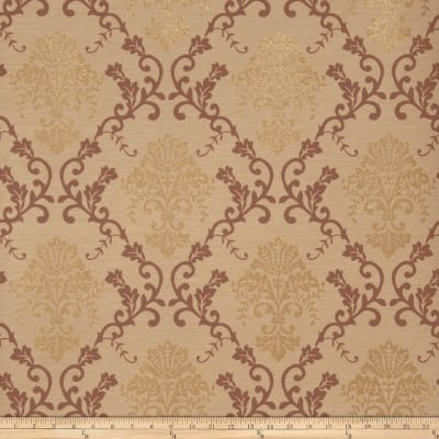 Fabricut Grace Wallpaper Bronze Spice (Double Roll)
