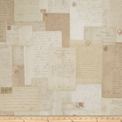 Fabricut Lettres D Amour Wallpaper Antique (Double Roll)