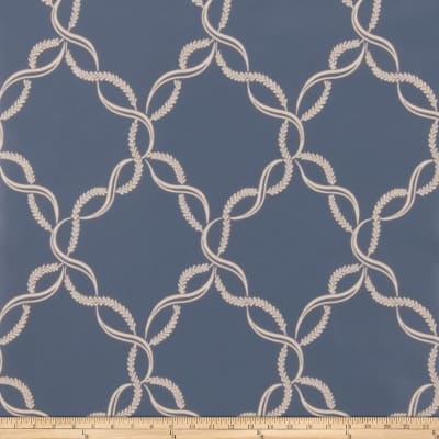 Fabricut Madeleine Wallpaper Indigo (Double Roll)