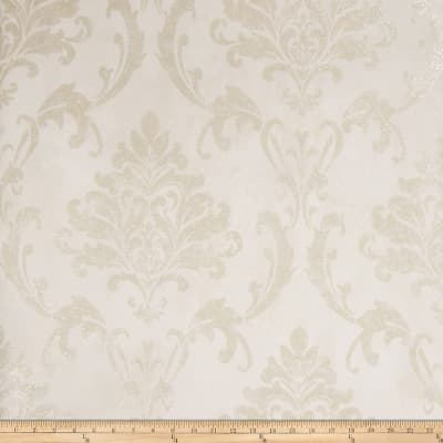 Fabricut Meryl Wallpaper Platinum Ivory (Double Roll)