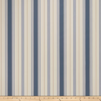 Fabricut Remi Stripe Wallpaper Indigo (Double Roll)