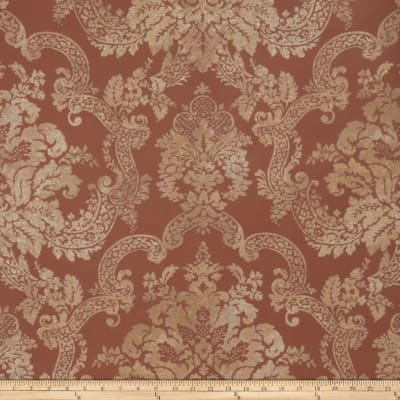 Fabricut Stanwyck Wallpaper Copper (Double Roll)