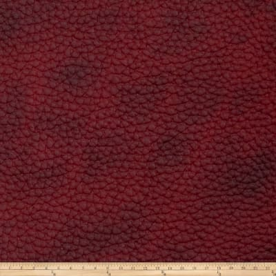 Fabricut Steel Faux Leather Garnet