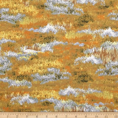 Roaming Wild Grass Allover Orange