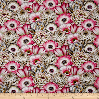 Tivoli Garden Large Packed Florals Pink