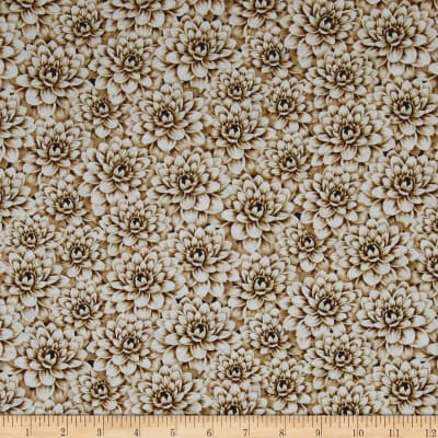 Tivoli Garden Packed Florals Tan