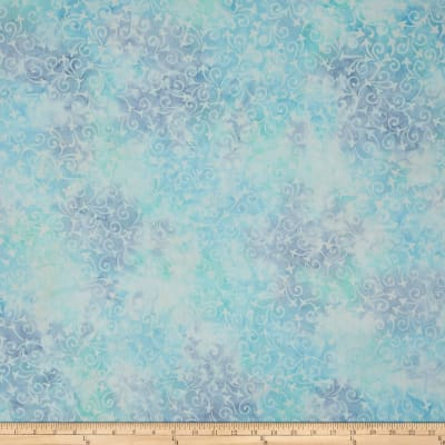Wilmington Batiks Delicate Scroll Light Blue