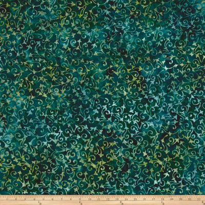 Wilmington Batiks Delicate Scroll Dark Green