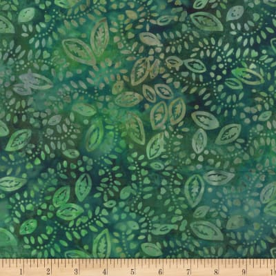 Wilmington Batiks Confetti Leaves Dark Green