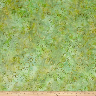 Wilmington Batiks Floating Circles Green/Gold