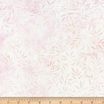 Wilmington Batiks Bamboo Leaves All Over Ivory/Pink