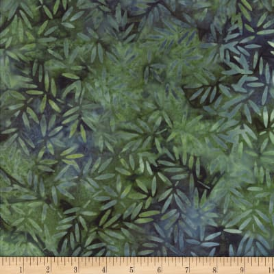 Wilmington Batiks Bamboo Leaves All Over Blue/Green