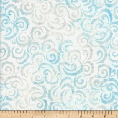 Wilmington Batiks Curlicues White/Blue