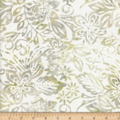 Wilmington Batiks Packed Floral Mix Ivory