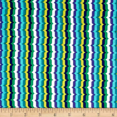 Michael Miller Hello Bracket Stripe Aqua