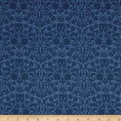 Liberty Fabrics Classic Tana Lawn Mortimer Silhouette Blue