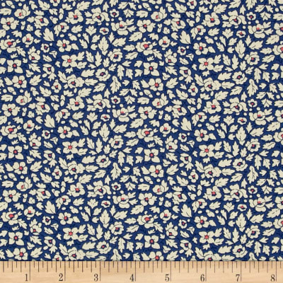 Liberty Fabrics Tana Lawn Feather Fields Blue/White/Pink