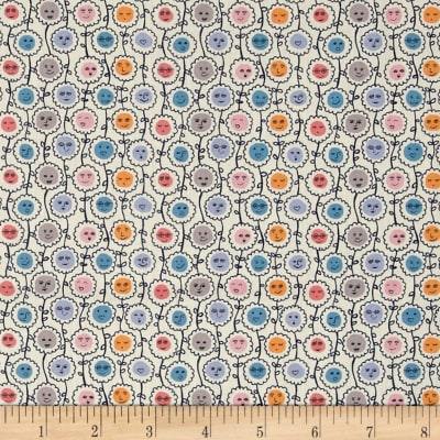 Liberty Fabrics Tana Lawn Happy Bloom Blue/Pink