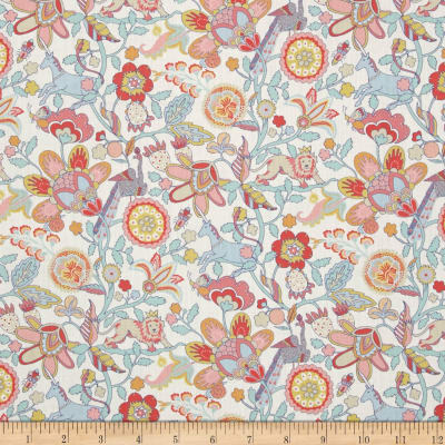 Liberty Fabrics Tana Lawn Mythical Forest Yellow/Blue/Pink