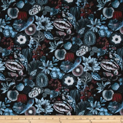 Liberty Fabrics Tana Lawn Earthly Delights Turquoise