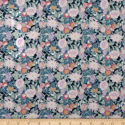 Liberty Fabrics Tana Lawn Bourdeaux Turquoise/Pink/Purple