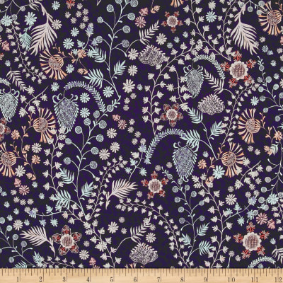 Liberty Fabrics Tana Lawn Crochet Meadow Purple/Pink