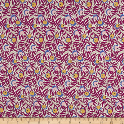 Liberty Fabrics Tana Lawn Huckleberry Purple/Grey