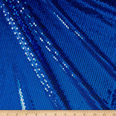 Mini Sequin Mesh Royal Blue