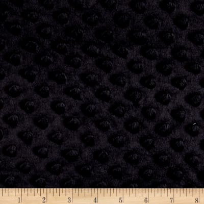 Minky Plush Dot Black