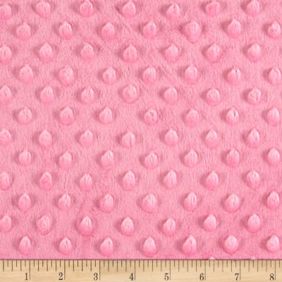 Minky Plush Dot Hot Pink