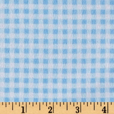 Gingham Flannel Light Blue