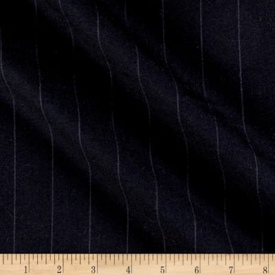 Merino Wool Suiting Small Stripes Black/Gray