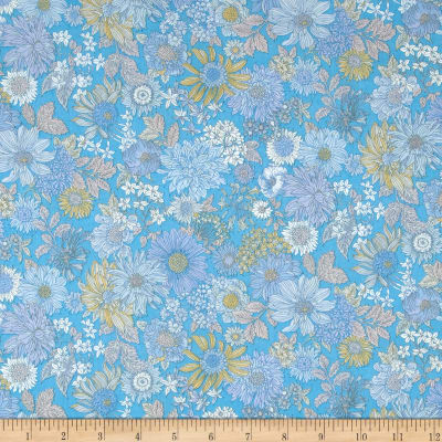Lecien Memoire A Paris 2017 Floral Basic Lawn Blue