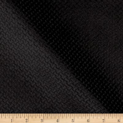Jacquard Velvet Basketweave Black