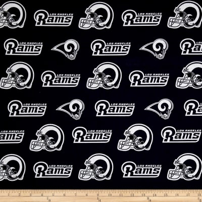 NFL Cotton Broadcloth Los Angeles Rams Navy