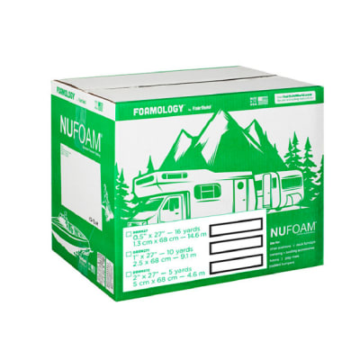 "Fairfield Poly-Fil Nu-Foam 27"" x 5yds x 2""  Roll/Box"