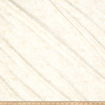 Timeless Treasures Cafe Au Lait Scroll Cream