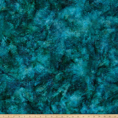 Island Batik Rayon Challis Bubble Sea Green
