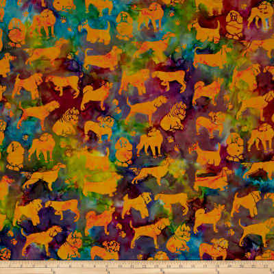 Island Batik Cotton Dogs Tourmaline