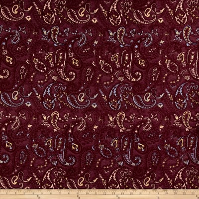 French Paisley Jacquard Red/Blue/Yellow/Coral