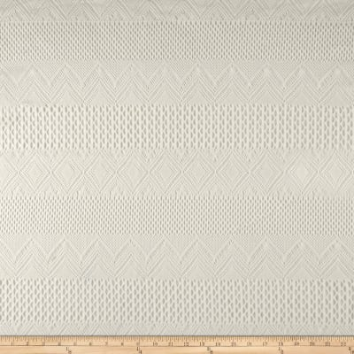Zig Zag Crochet Lace Off White