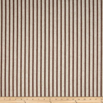Waverly Harlow Stripe Cognac Linen
