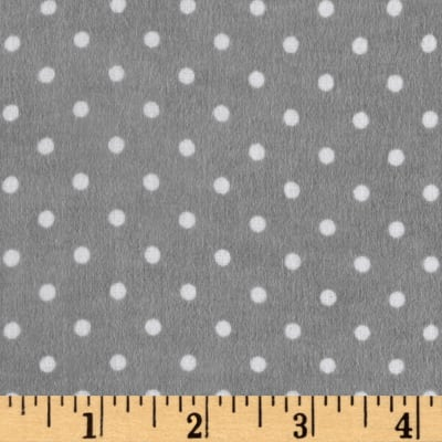 Riley Blake Flannel Basics Swiss Dot Gray